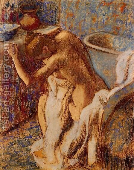 Woman Drying Herself V by Edgar Degas - Reproduction Oil Painting