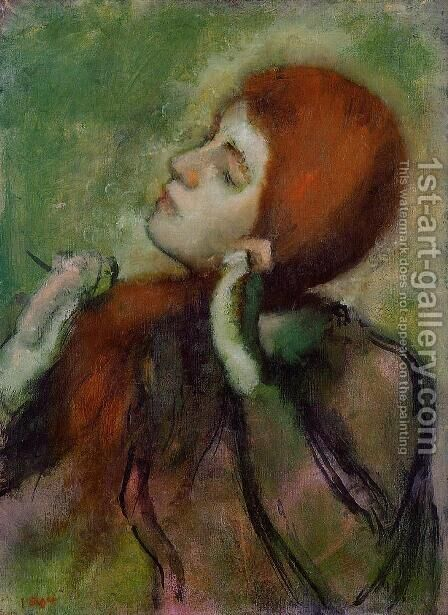 Woman Combing Her Hair III by Edgar Degas - Reproduction Oil Painting