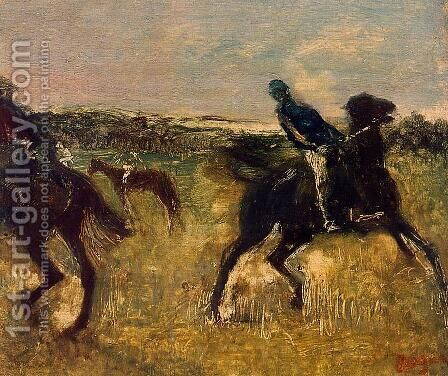 Jockeys VI by Edgar Degas - Reproduction Oil Painting