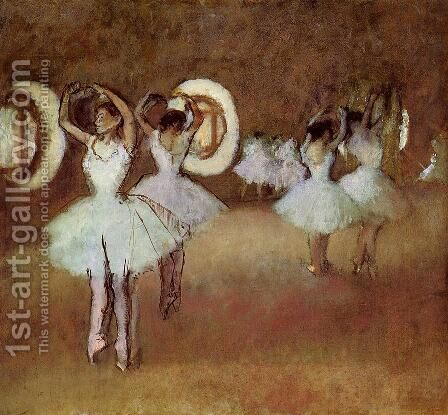 Dance Rehearsal in theStudio of the Opera by Edgar Degas - Reproduction Oil Painting