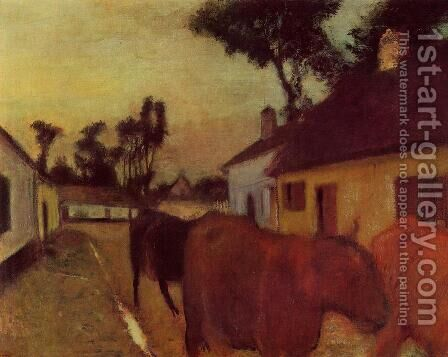 The Return of the Herd by Edgar Degas - Reproduction Oil Painting