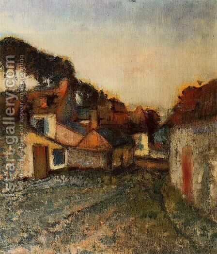 Village Street by Edgar Degas - Reproduction Oil Painting