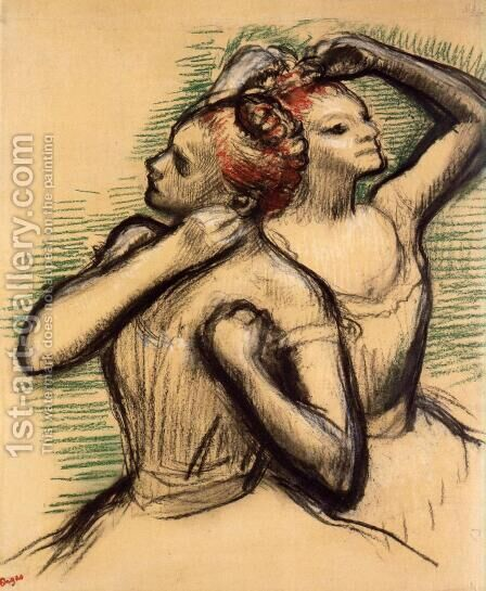 Two Dancers IV by Edgar Degas - Reproduction Oil Painting