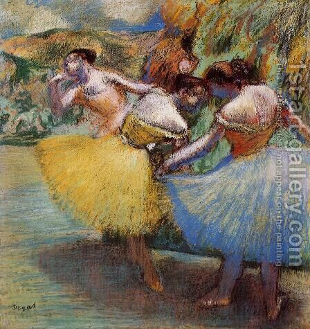 Three Dancers II by Edgar Degas - Reproduction Oil Painting