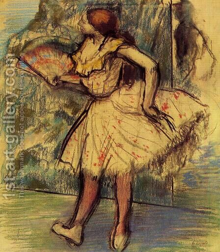 Dancer with a Fan II by Edgar Degas - Reproduction Oil Painting