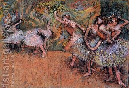 Ballet Scene III by Edgar Degas - Reproduction Oil Painting