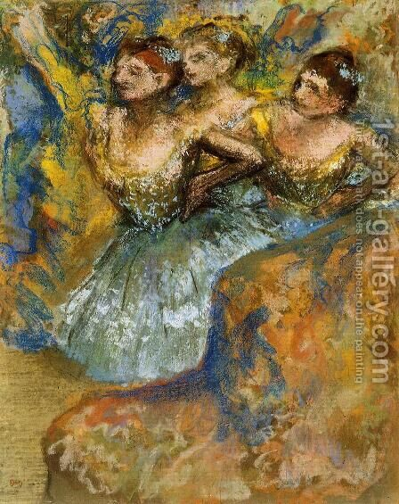 Group of Dancers I by Edgar Degas - Reproduction Oil Painting