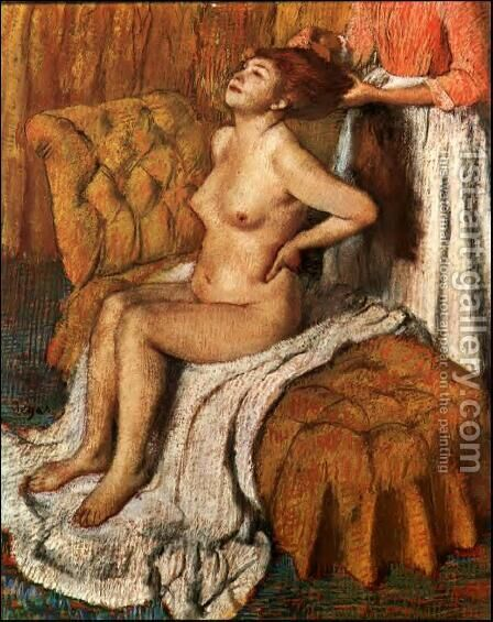 Woman Having Her Hair Combed II by Edgar Degas - Reproduction Oil Painting