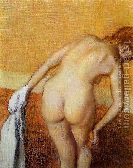 Woman Having a Bath by Edgar Degas - Reproduction Oil Painting