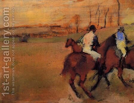 Horses and Jockeys by Edgar Degas - Reproduction Oil Painting