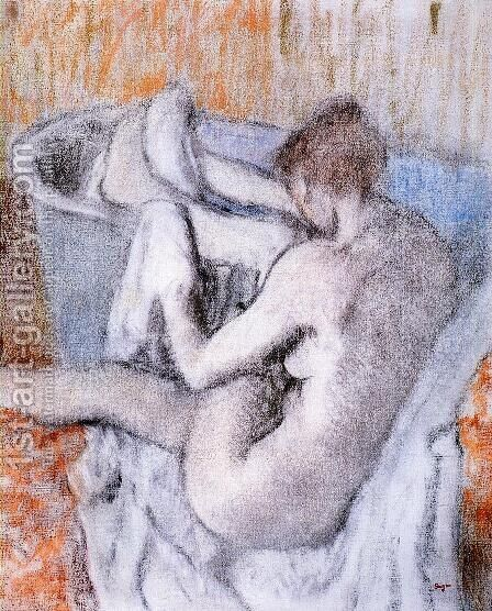La Toilette apres le Bain by Edgar Degas - Reproduction Oil Painting