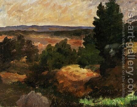 Landscape II by Paul Cezanne - Reproduction Oil Painting