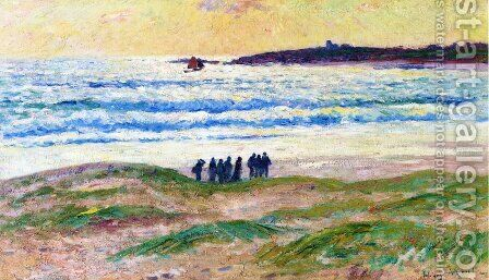 Coast of Brittany by Henri Moret - Reproduction Oil Painting