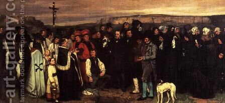 A Burial at Ornhans by Gustave Courbet - Reproduction Oil Painting