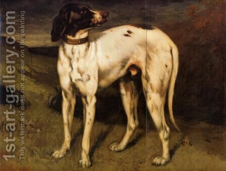 A Dog from Ornans by Gustave Courbet - Reproduction Oil Painting