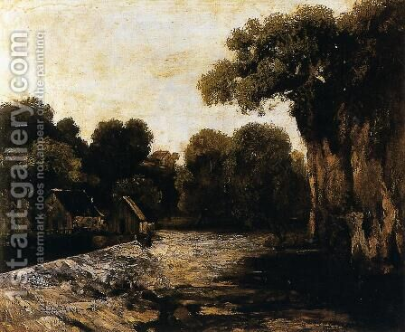 Locks on the Loue by Gustave Courbet - Reproduction Oil Painting