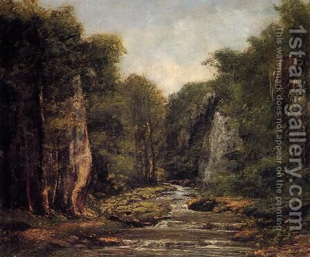 The River Plaisir-Fontaine by Gustave Courbet - Reproduction Oil Painting
