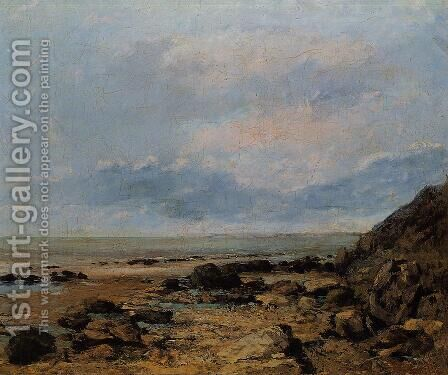 Rocky Seashore by Gustave Courbet - Reproduction Oil Painting