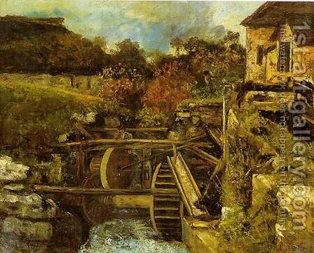 The Ornans  Paper Mill by Gustave Courbet - Reproduction Oil Painting