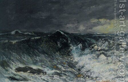 The Wave 2 by Gustave Courbet - Reproduction Oil Painting