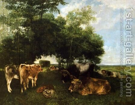 The Rest During the Harvest Season by Gustave Courbet - Reproduction Oil Painting