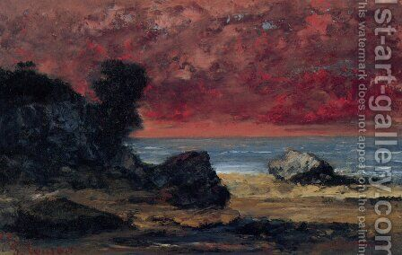 After the Storm by Gustave Courbet - Reproduction Oil Painting