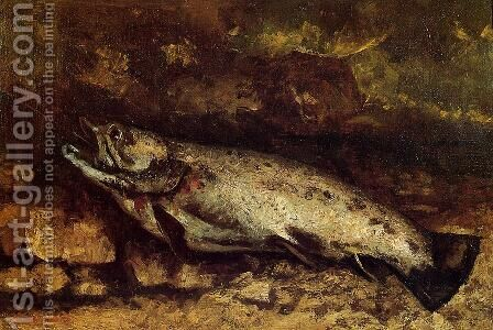 The Trout by Gustave Courbet - Reproduction Oil Painting