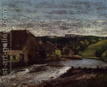 The Loue Valley by Gustave Courbet - Reproduction Oil Painting