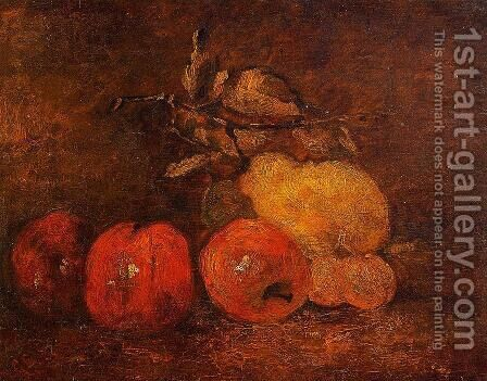 Still Life with Pears and Apples by Gustave Courbet - Reproduction Oil Painting