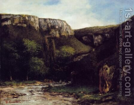 The Gorge by Gustave Courbet - Reproduction Oil Painting