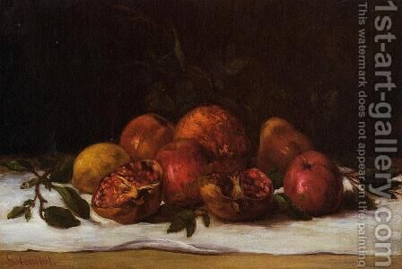 Still Life by Gustave Courbet - Reproduction Oil Painting