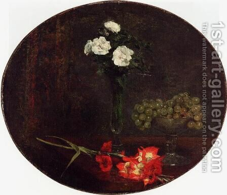 Still Life with Flowers I by Ignace Henri Jean Fantin-Latour - Reproduction Oil Painting