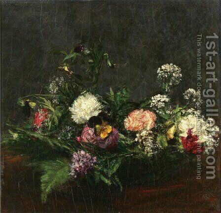 Flowers V by Ignace Henri Jean Fantin-Latour - Reproduction Oil Painting