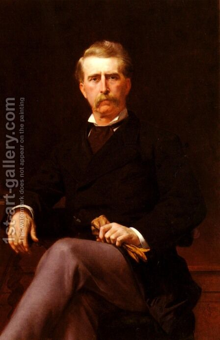 Portrait of John William Mackay by Alexandre Cabanel - Reproduction Oil Painting