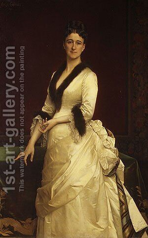 Catharine Lorillard Wolfe (1828-1887) by Alexandre Cabanel - Reproduction Oil Painting