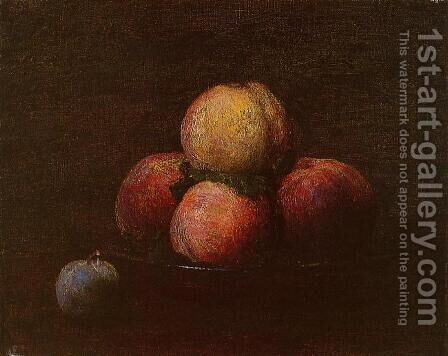 Peaches and a Plum by Ignace Henri Jean Fantin-Latour - Reproduction Oil Painting