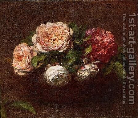 Roses by Ignace Henri Jean Fantin-Latour - Reproduction Oil Painting