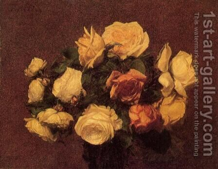Roses I by Ignace Henri Jean Fantin-Latour - Reproduction Oil Painting