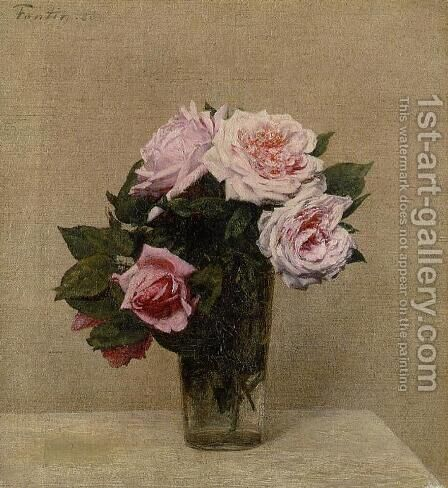 Roses Roses by Ignace Henri Jean Fantin-Latour - Reproduction Oil Painting