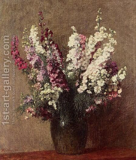 Pieds d'Allouette by Ignace Henri Jean Fantin-Latour - Reproduction Oil Painting