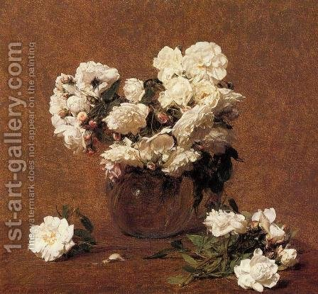 Roses Aime Vieberg by Ignace Henri Jean Fantin-Latour - Reproduction Oil Painting