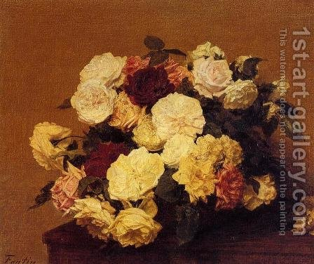 Roses XII by Ignace Henri Jean Fantin-Latour - Reproduction Oil Painting