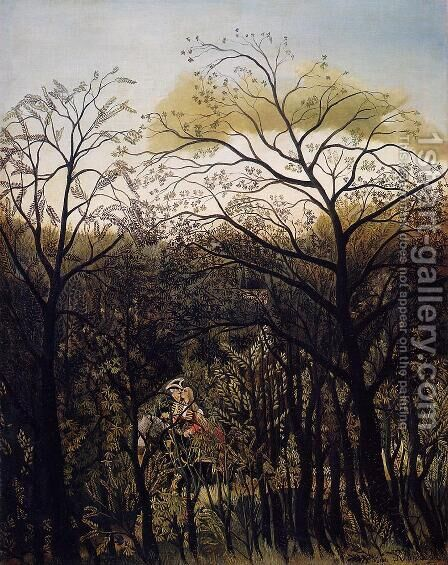 Forest Rendezvous by Henri Julien Rousseau - Reproduction Oil Painting