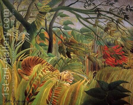 Surprise! by Henri Julien Rousseau - Reproduction Oil Painting