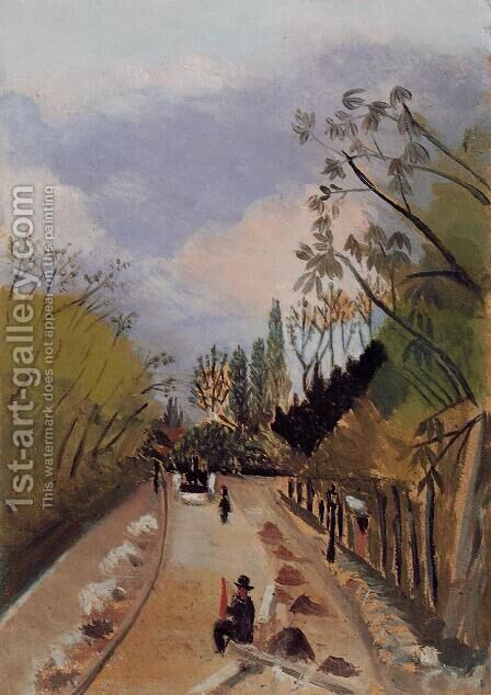 Avenue de l'Observatoire by Henri Julien Rousseau - Reproduction Oil Painting