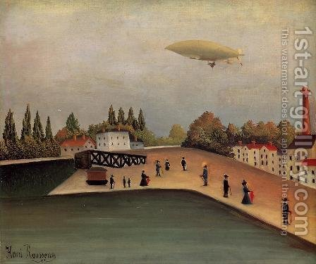 View of the Quai d'Ovry by Henri Julien Rousseau - Reproduction Oil Painting