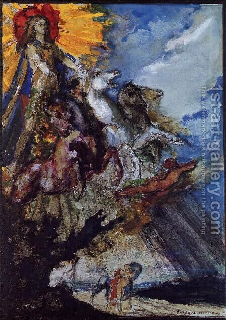 Phoebus and Boreas by Gustave Moreau - Reproduction Oil Painting