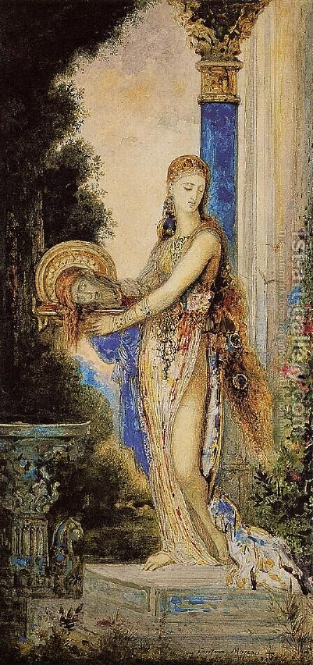 Salome with Column by Gustave Moreau - Reproduction Oil Painting
