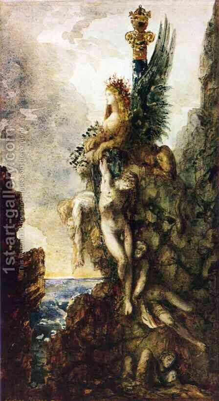 The Victorious Sphinx by Gustave Moreau - Reproduction Oil Painting