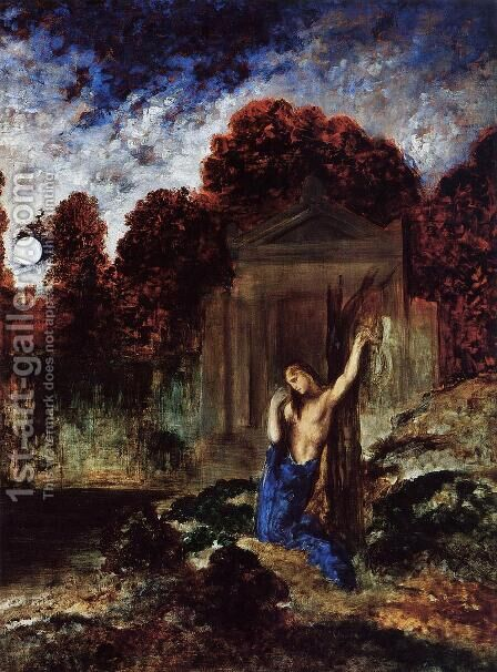 Orpheus at the Tomb of Eurydice by Gustave Moreau - Reproduction Oil Painting